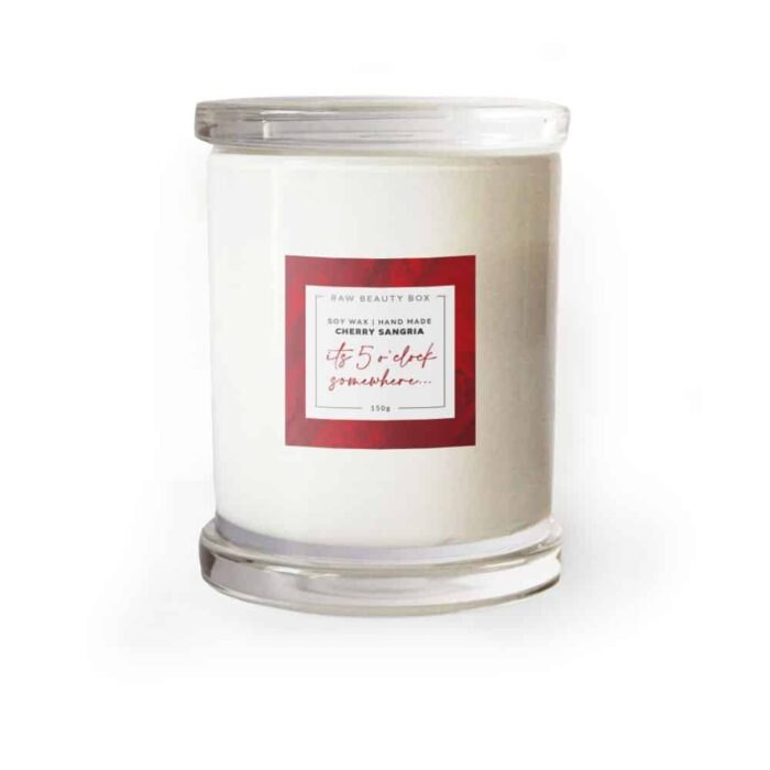 Cherry Sangria - Soy Wax Hand Made Candle - 150g